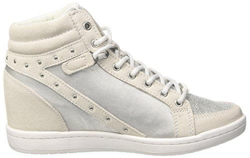 Versace Damen Ee0vrbsc1_e70021 Hohe Sneaker Silber / Schwarz