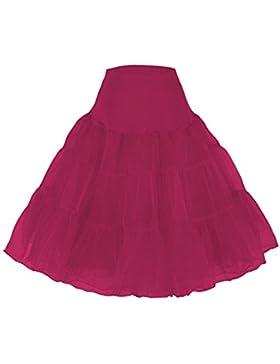 Cancan Enaguas falda vestido midi Cancan 50s Retro Rockabilly Enaguas Miriñaques Faldas vestido Petticoat hoopless...