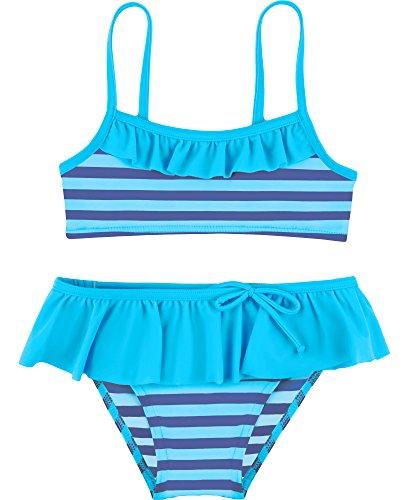 Merry Style Mädchen Bikini Set MSVRKind3 (Blau/Kornblumen, 122)