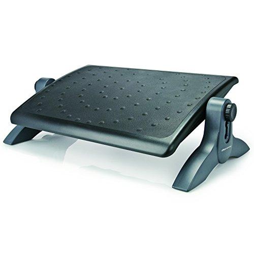 Innovative Fußstütze TURBO | Fußablage für ergonomisches Sitzen | Trittfläche höhenverstellbar und stufenlos schwenkbar