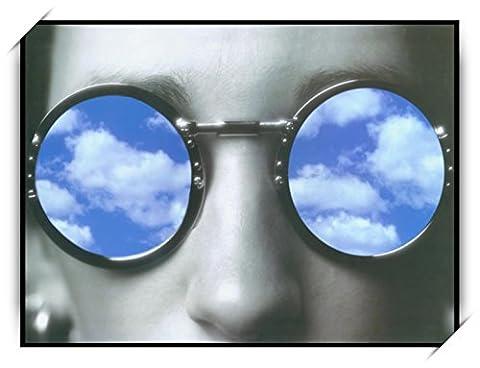 Haehne Modern Des lunettes Toiles en coton Impression Oeuvres Peintures à l'huile Photo Imprimé sur toile Art mural pour les décorations maison à la chamber, 40 *30cm(16 *12Inch),Image seulement