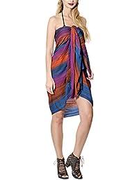 PRESKIN Sommerlicher Sarong Pareo Wickelrock Schal Halstuch Strandrock Kleid
