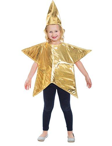 Kinder Stern Sternkostüm Weihnachten Mädchen Karneval Fasching -
