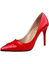 Minetom Mujer Primavera Atractivo Charol Pumps High Heel Shoes Stiletto Trabajo Zapatos de Tacón Moda Zapatos