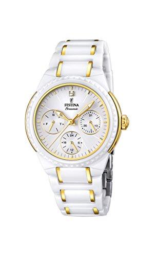 Festina F16699/2 – Reloj de pulsera mujer, cerámica, color blanco