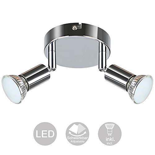 Creyer Orientable y Giratoria Foco LED Para Techo, Moderno Redondos Plafón 2...