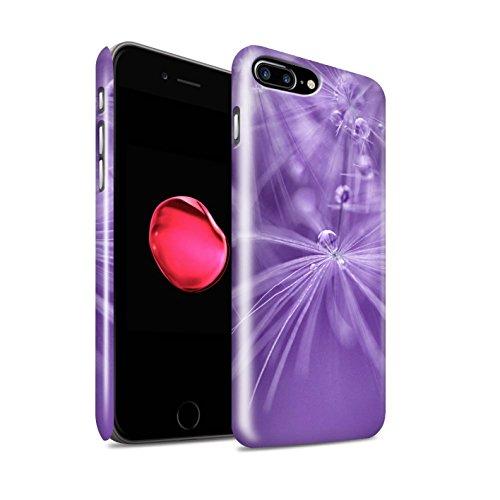 STUFF4 Glanz Snap-On Hülle / Case für Apple iPhone 8 Plus / Grün Blume Muster / Blumen Fee Tropfen Kollektion Lila Blume