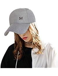 Mzdpp 2018Ponytail Berretto da Baseball da Donna Snapback Cappello Estivo Bianco Unisex Sport e tempo libero Cappelli e cappellini