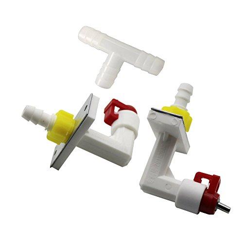Adhere To Fly 10 Stück Haustier Kaninchen Katze Hund Hamster Automatische Wasser Feeder Verbinden mit Durchmesser 8 mm Rohr Geflügel Trink Brunnen