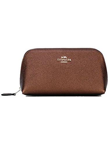 Coach Kosmetiktasche/ Pouch cross grain leather, Metalic Brown - Coach Handtaschen Zubehör