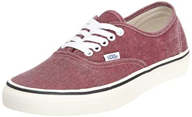 Vans  Malone, Chaussures femme, U Authentic, rouge/blanc