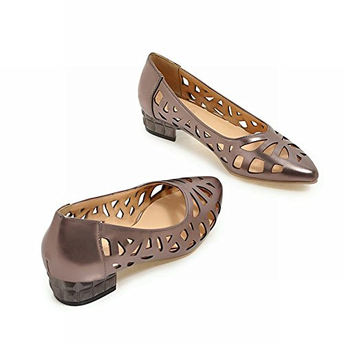 einfach Niedrig Damen hollow einfach out Damen hollow Mee Mee Shoes Pumps Taupe Pumps Taupe out Shoes Niedrig Tx6WPp