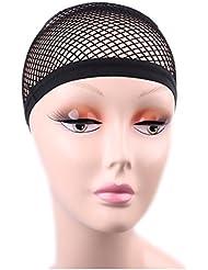 Gazechimp Bonnet de Perruques Cheveux Résille Filet à Maille en Nylon Elastique pour Extension de Cheveux Perruque Déguisement