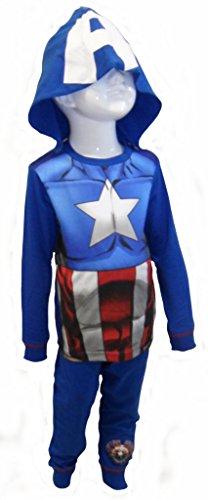 Marvel Capitan America pigiama ragazzi 3-4 anni
