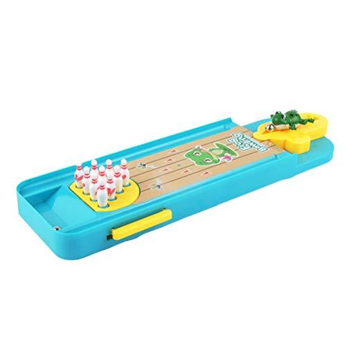 Toyvian Mini Bowling Spiel Kunststoff Bowlingspiel für Kinder Pädagogisches Spielzeug