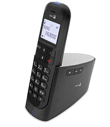 Doro Magna 2000 - Teléfono (DECT, 50m, 300m, 100 entradas, AAA), color negro