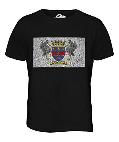 CandyMix Saint-Barthélemy Kritzelte Flagge Herren T Shirt Schwarz