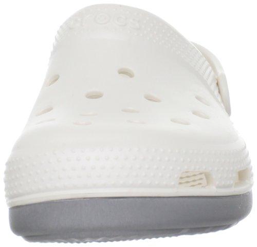 Crocs, Duet Plus Sabot U, Zoccoli e sabot, Unisex - adulto Beige (Oyster/Silver 12V)
