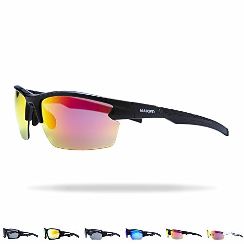 NAKED Optics Sportbrille (Halfframe Black/Lens Red)