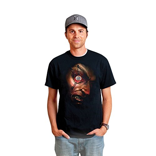Digital Dudz DDTMEN2 - neuen Stil Bewegliches T-Shirt Halloween Hektisches Auge Größe (Kostüme Digital Dudz)