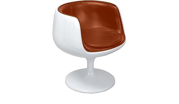 style Chaise Premium Cuir Cognac Coque Eero Aarnio FJlK1c