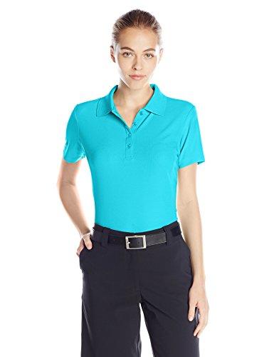 Greg Norman Collection Frauen Short Sleeve Protek aus Mikro-Piqué Polo, damen, türkis (Damen Golf-shirt Collection)
