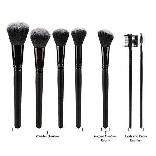 Savisto Professional 32 Piece Make Up Brush Set with Luxury Leather Effect Carry Case & Stylish Gift Box
