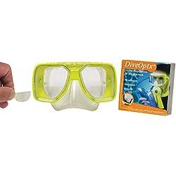 Lentilles adhesives correctrices de près pour Masque de Plongée - Snorkling - Ski / Hydrotac DiveOptx LHD (+1.00D)