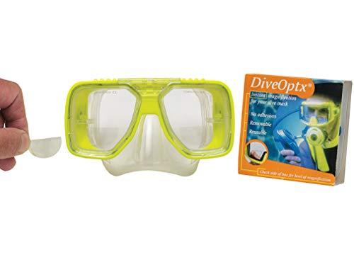 Lentilles adhesives correctrices de près pour Masque de Plongée - Snorkling - Ski / Hydrotac DiveOptx LHD (+2.50D)