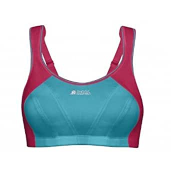 SHOCK ABSORBER Ladies Active Multi Sports Support Bra, Blue/Pink, 30D