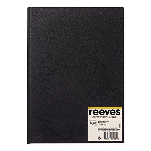Reeves 8490929 Skizzenbuch - Gebunden, 80 Blatt Zeichenpapier, säurefrei weißes Papier 96 g/m²-...