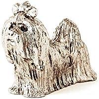 Bichón maltés Hecho en Reino Unido Artístico Perro Figura Colección