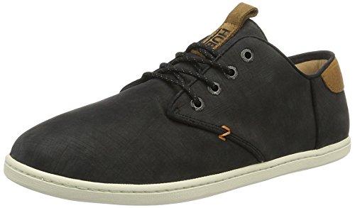 Hub Herren Chuckonian N33 Scratched Low-Top Sneaker, Schwarz (Coal-black), 42 EU