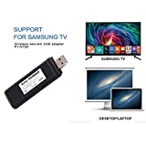 Adattatore Wi-Fi wireless USB TV, Fancartuk 802.11 AC 2.4 GHz e 5 GHz Dual-Band di rete wireless USB adattatore WiFi per Samsung Smart TV WIS12ABGNX WIS09ABGN 300 m