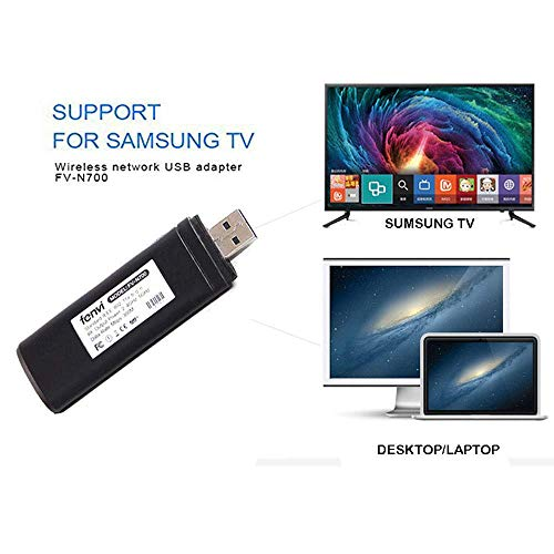 Adaptateur Wi-FI sans Fil pour TV USB 802.11a/b/g/n2,4 GHz 5 GHz 300 m Réseau USB WLAN LAN Adaptateur pour Samsung Smart TV