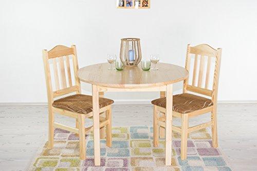 Tisch Kiefer massiv Vollholz natur Junco 235A (rund) - Durchmesser 100 cm