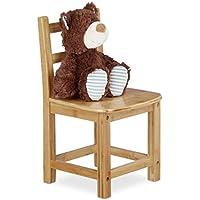 Preisvergleich für Relaxdays Kinderstuhl RUSTICO aus Bambus, Für Jungen und Mädchen, Kinderzimmer Stuhl, HBT: ca. 50 x 28,5 x 28 cm, natur