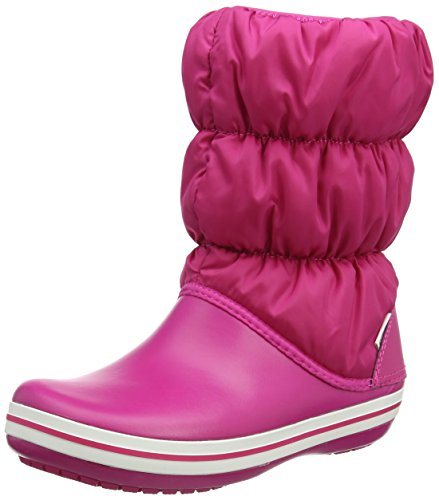 Crocs Winter Puff Boot Women, Damen Schneestiefel, Pink (Candy Pink/candy Pink), 41/42 EU