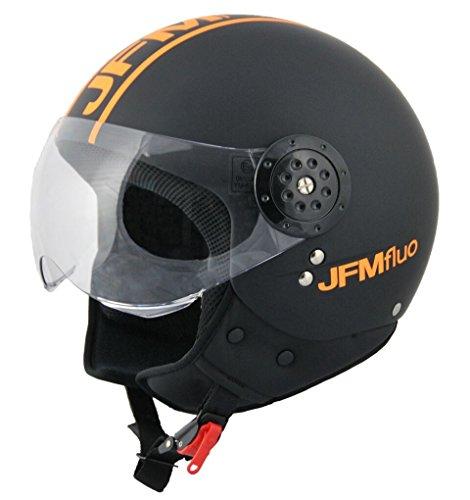 JFM CASCO JET 427 NERO/ARANCIO FLUO (L, NERO/GIALLO FLUO)