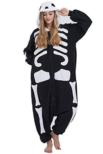 Pyjama Tier Cosplay Kigurumi Animal Skelett Cartoonstil Plüsch für Unisex Damen Herren