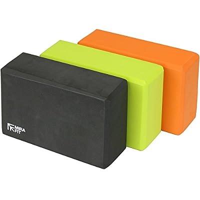 MiraFit - Yogablock - verschiedene Farben - Set mit 2 Stück