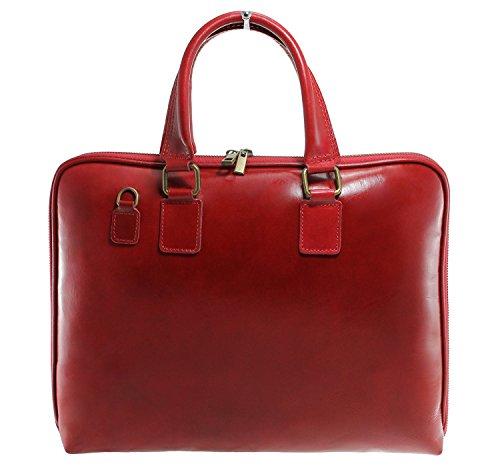 CTM femmes de sac de serviette de travail, 38x28x7cm, 100% cuir véritable Fabriqué en Italie