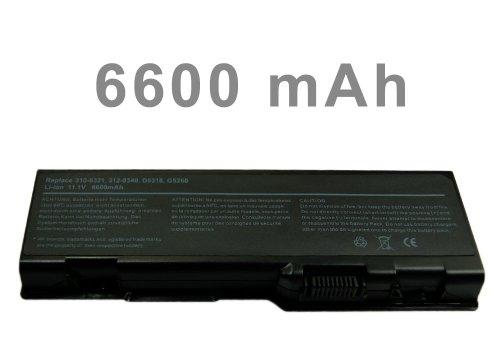 Mitsuru® 6600mAh Notebook Laptop Akku Batterie für Dell Inspiron E1705 6000 9200 9300 9400 Precision M90 XPS Generation 2 M170 M1710 ersetzt 310-6322 312-0339 312-0340312-0348 312-0349 312-0350 C5974D5318 F5635 G5260 G5266 U4873 310-6321 C5447 - G5266 Ersatz