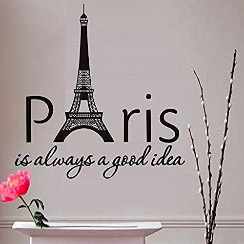 gute Idee Frankreich Eiffel sagen Turm Wandaufkleber Für Schlafzimmer Vinyl Kunst Wandtattoo Dekoration ()