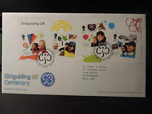 Great Britain Royal Mail 2010 FDC - Miniature Sheet Girlguiding Tallents postmark first day cover children scouts kites Typed Address JandRStamps