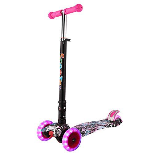 WeSkate 3-10 Jahre Jungen Mädchen Kinder Roller