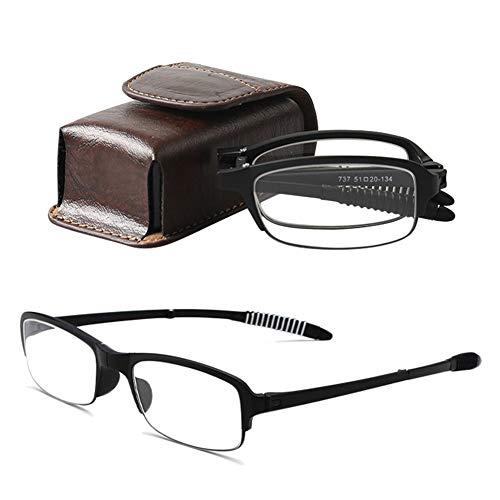 02ef800f35 VEVESMUNDO Gafas de Lectura Plegables Hombre Mujer Compactas Flexibles con  Funda Opticas Presbicia Vista Lejos Graduadas