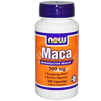 Maca 500mg - 100 caps NOW Foods, Lepidium Meyenii, Increasing Stamina and Energy, Supports Hormonal Balance, Gelatin and Magnesium Stearate from NOW Foods