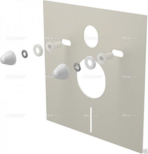 Schallschutz-Set für Wand-WC und Bidet mit Zubehör und Weißabdeckung (Wand-bidet)