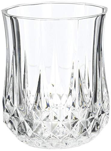 Cristal d'Arques, Longchamp Whiskybecher 230ml, ohne Füllstrich, 6 Stück Clear Crystal Brandy